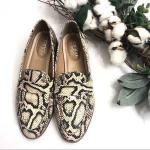 Franco Sarto Hudley Snakeskin Leather Loafers